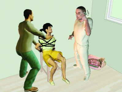 被绑架美女胶带封嘴视频,三名少女遭绑架囚禁 ,绑架要判刑多少年 2
