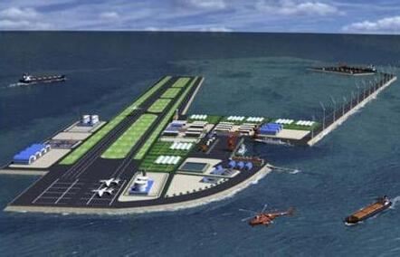 永暑礁机场跑道完工卫星图, 南海岛礁填海实际控制图最新进展 2
